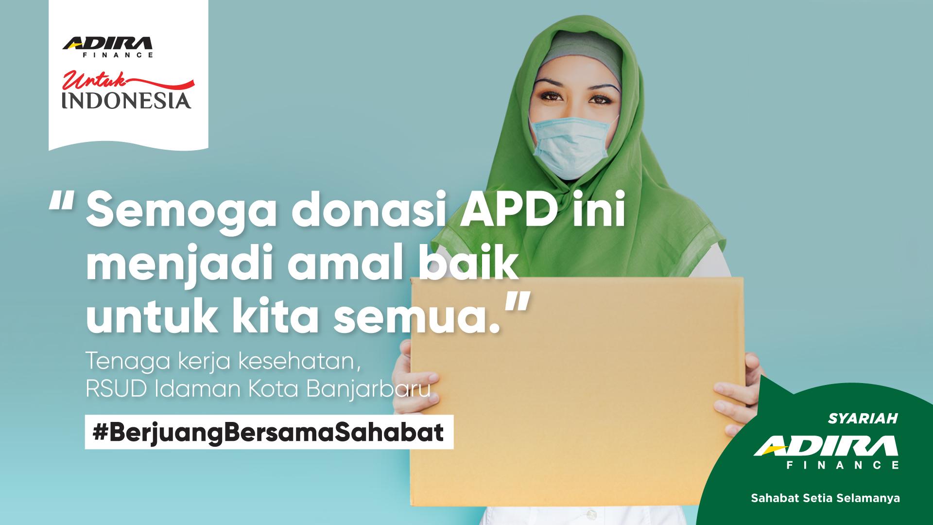 Adira Finance Syariah Donasi APD ke Rumah Sakit Rujukan ...